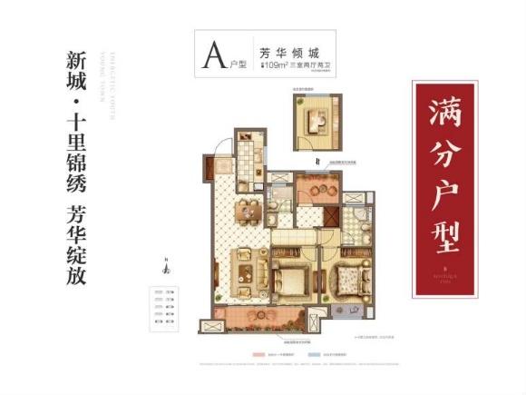 新城十里锦绣在售价格为:9500元/平方