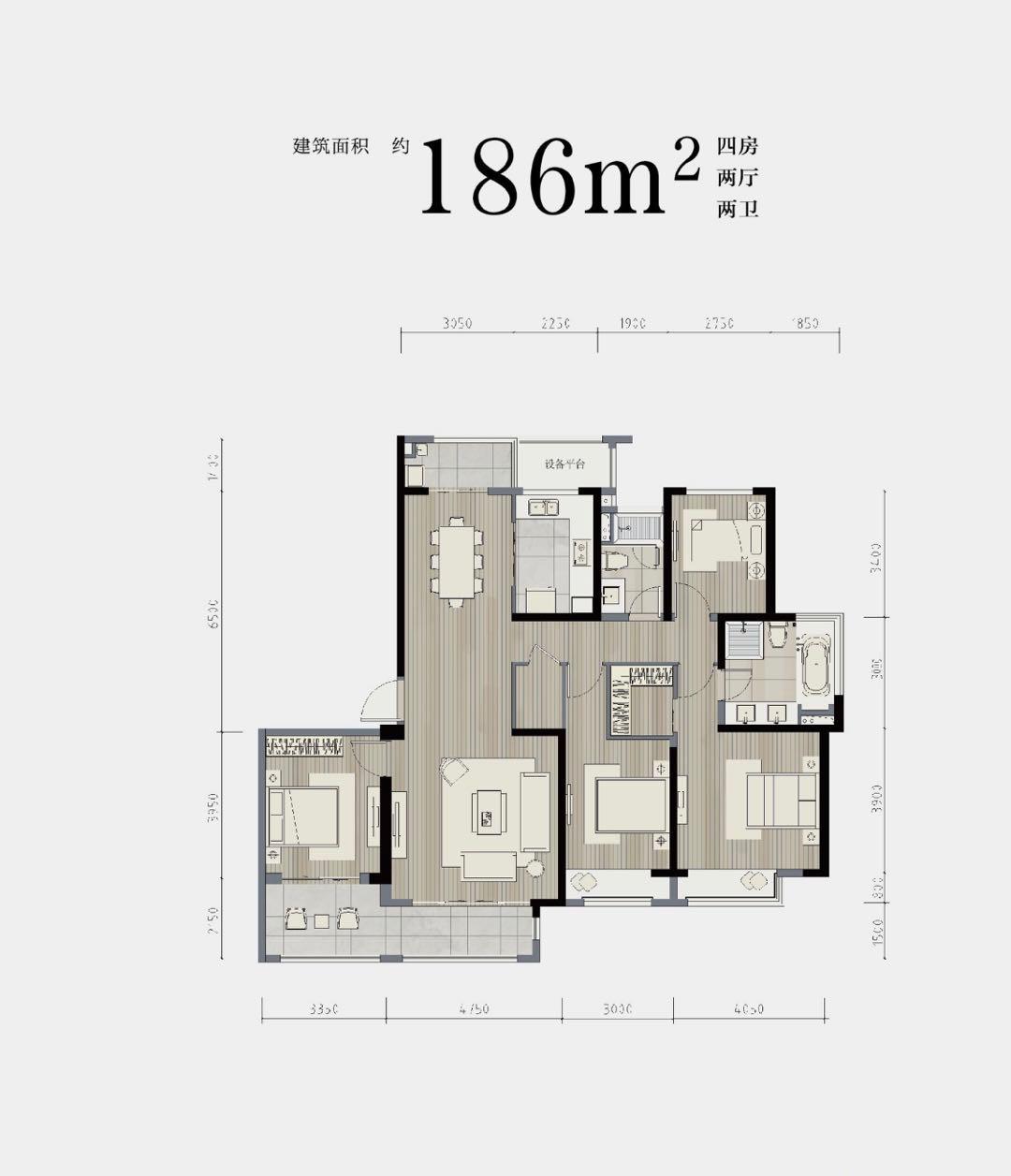 186平户型图